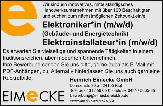 Anzeige Elektroniker (M/W/D)